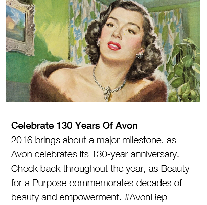 Successful Avon for 130 Years