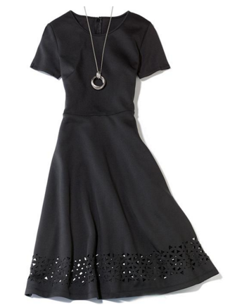 Avon Laser-cut black dress