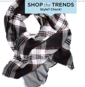 Fall Fashion blanket check scarf