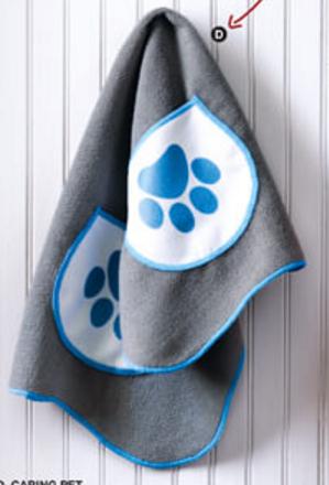 fur baby drying towel
