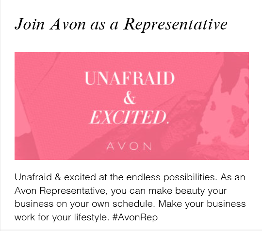 Endless opportunities with Avon