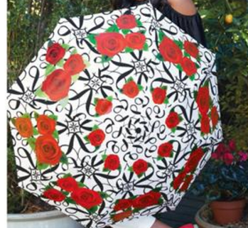 Italian Rose Print Umbrella