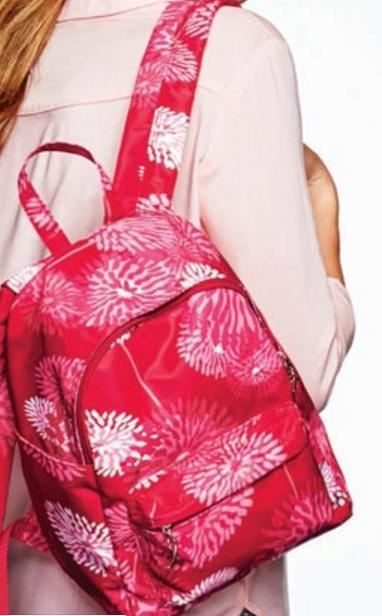 Think pink mini backpack