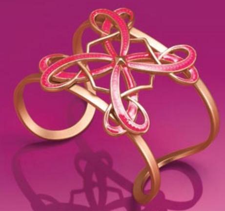 think pink - cuff